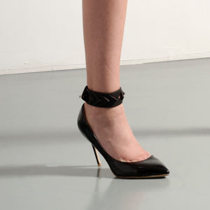 AN02 LASER CUT LEATHER ANKLET - 0770shop