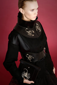 0770 Selene scorpion leather waist belt