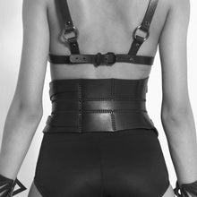 Load image into Gallery viewer, 0770 Eagle leather corset belt