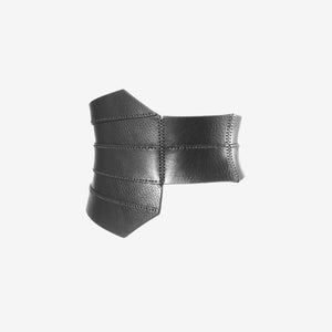0770 Grid leather corset belt
