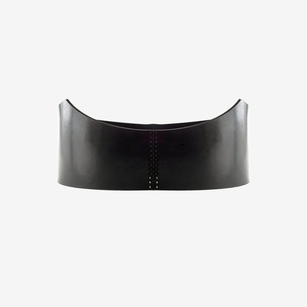 Snake leather waist belt