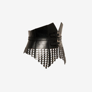Bite leather corset belt