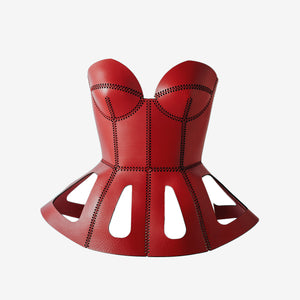 Irony leather corset