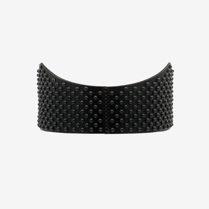 0770 Demetra black studded leather belt
