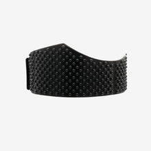 Load image into Gallery viewer, 0770 Demetra black studded leather belt