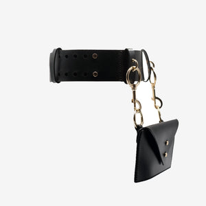 CALLIOPE LASER CUT LEATHER BELT BAG - 0770shop