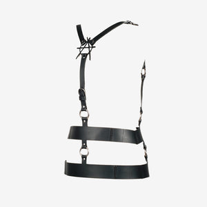 Nadine leather harness belt