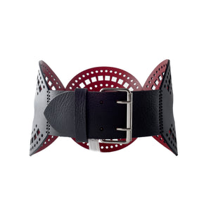 0770 Cassandre lasered leather belt