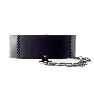 0770 Gisèle chaine leather belt
