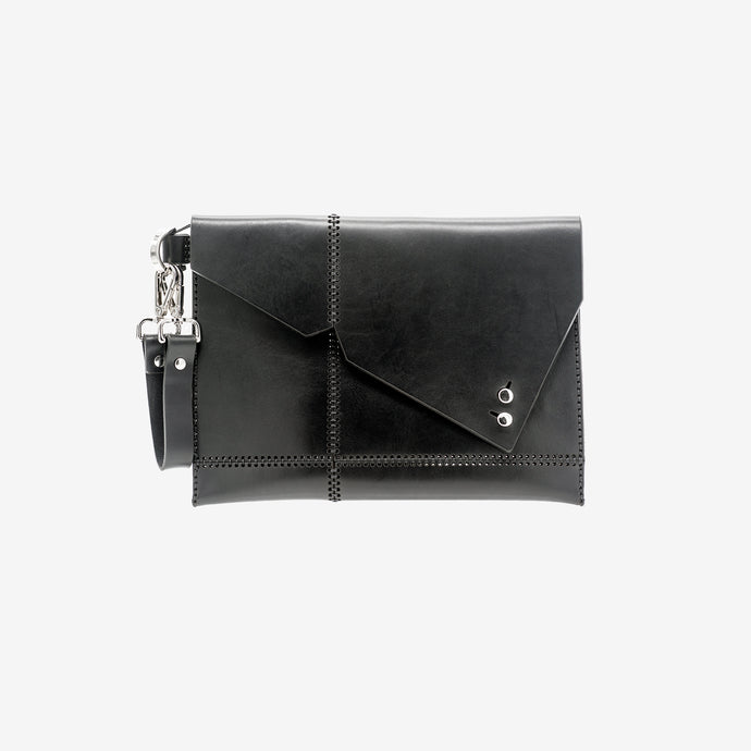 Sol leather clutch