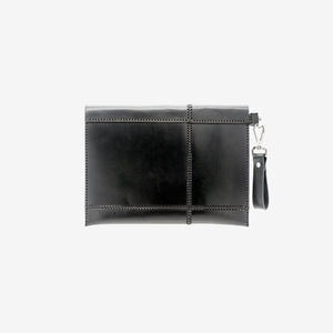 0770 Sol leather clutch