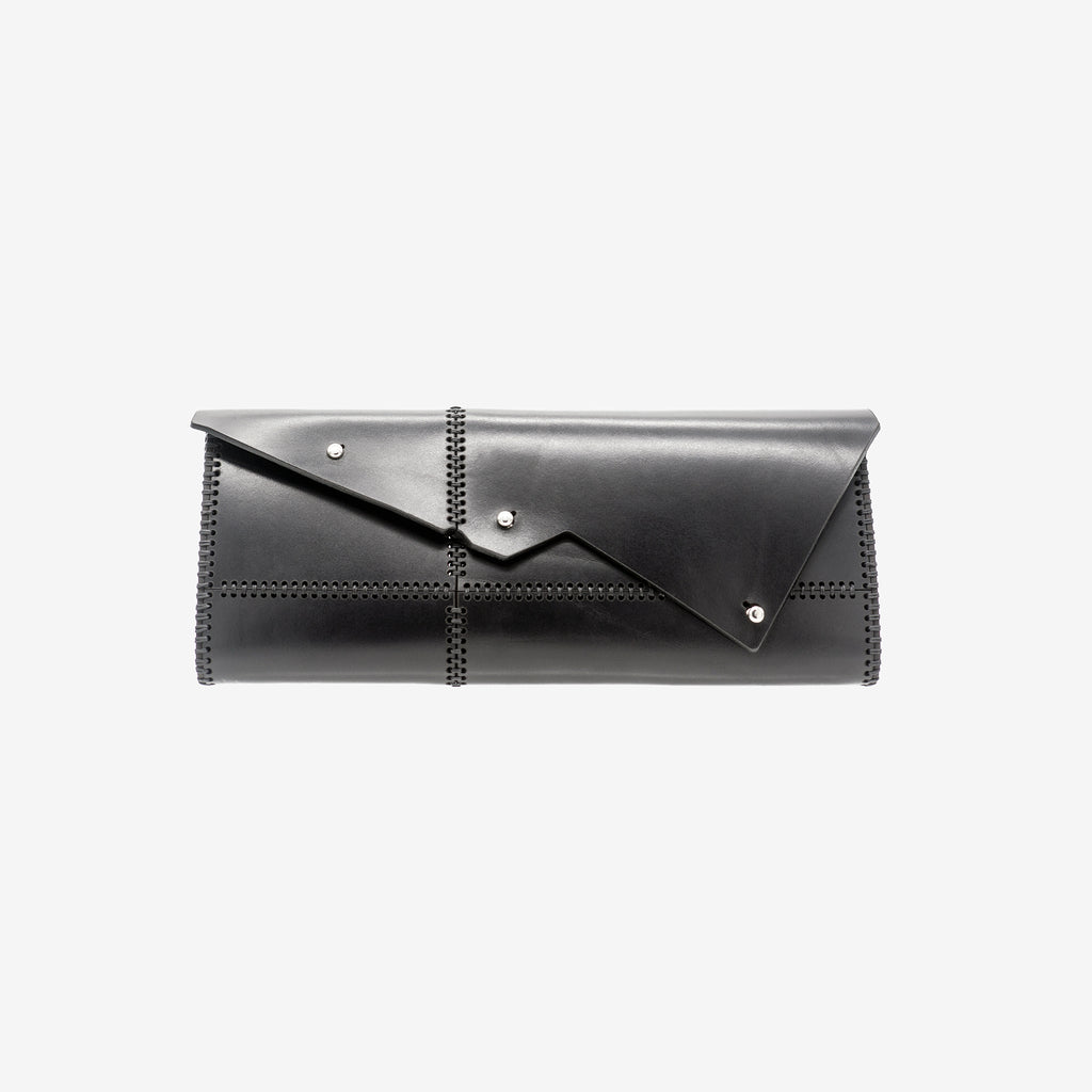 NEMESI LASER CUT LEATHER CLUTCH - 0770shop