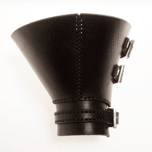 C03 Black leather cuff - 0770shop
