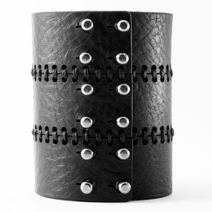 C13 Black leather bracelet - 0770shop