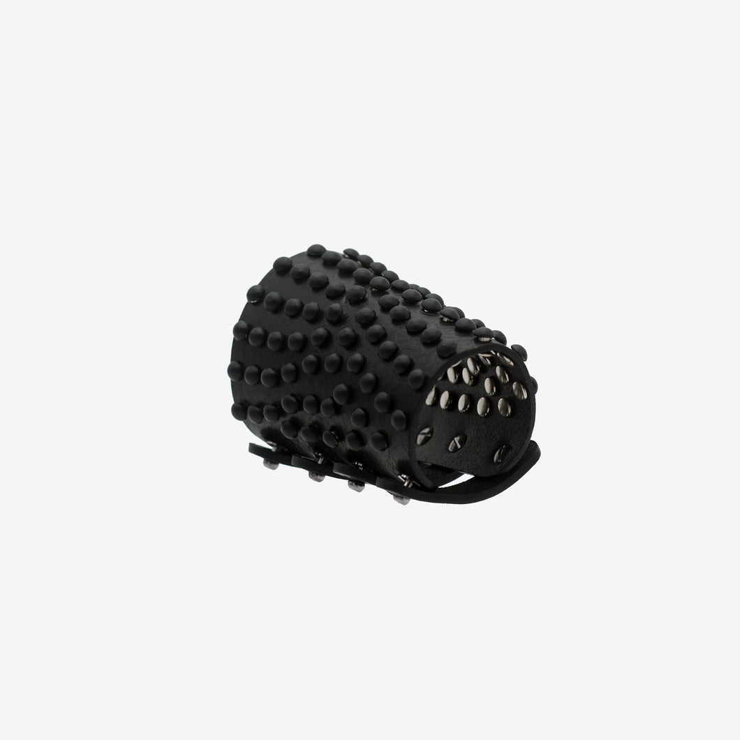0770 Thesan black studded leather cuff