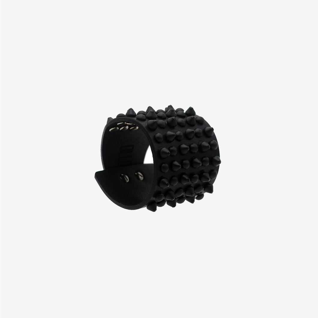 0770 Bowery black studded leather cuff