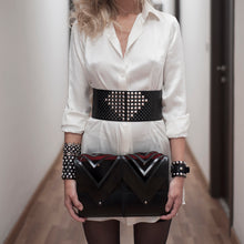 Load image into Gallery viewer, 0770 Francine studded leather belt