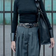 Load image into Gallery viewer, 0770 Estelle studded leather belt