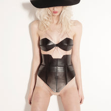 Load image into Gallery viewer, 0770 Arrow leather corset belt