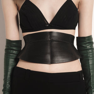 0770 Butterfly leather corset belt