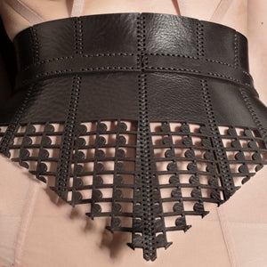 0770 Bite leather corset belt