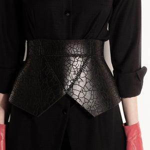 0770 Branches leather corset belt