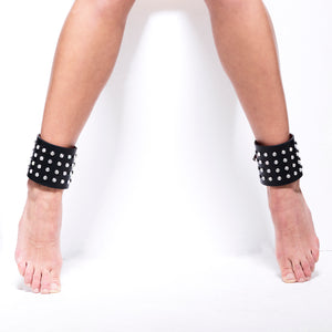AN04 LASER CUT LEATHER SWAROVSKI ANKLET - 0770shop