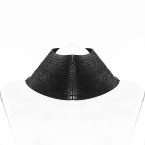 N13 Black leather necklace - 0770shop