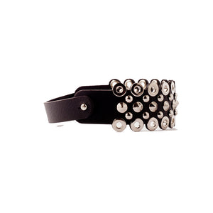 0770 Edwige studded leather choker