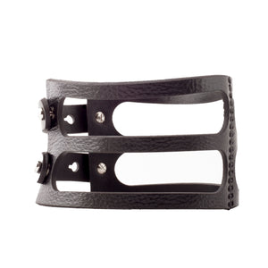 0770 Arielle leather choker collar