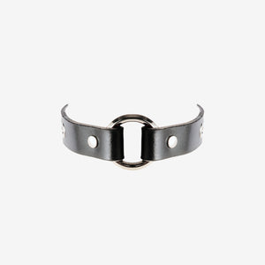 Viola leather choker