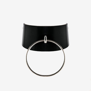 N53 Leather Ring Choker Collar - 0770shop