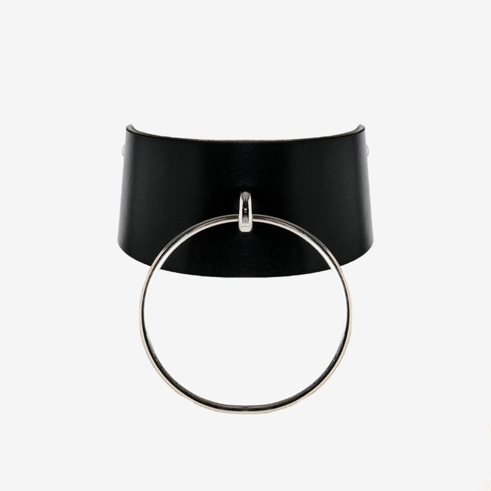 0770 Miranda leather ring choker collar