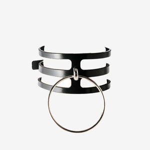 N55 Leather Ring Choker Collar - 0770shop