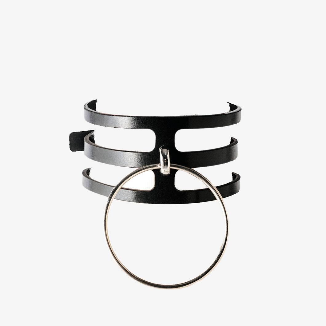 0770 Beatrice leather choker collar