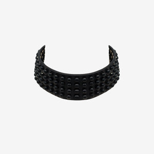 GIUNONE LASER CUT LEATHER CHOKER - 0770shop