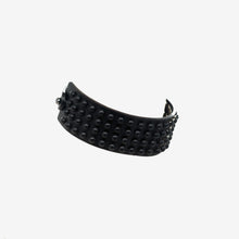 Load image into Gallery viewer, 0770 Giunone black studded leather choker collar