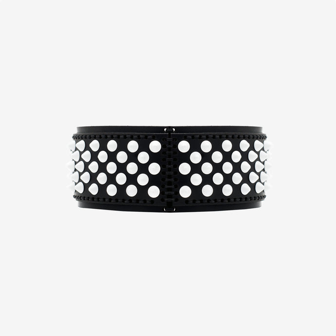 Florentine leather choker