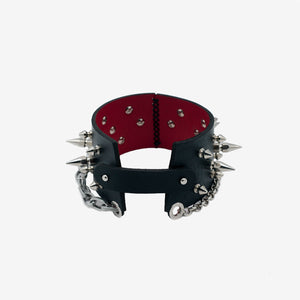 N80 studded leather choker