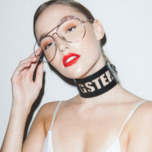 Load image into Gallery viewer, 0770 Bianca leather customized choker collar