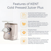 KENT Cold Pressed Juicer Plus