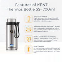 KENT Thermos Bottle SS-700 ml