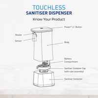 KENT Touchless Sanitiser Dispenser