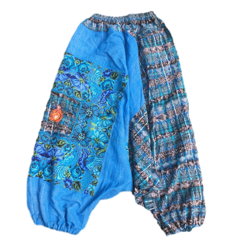Guatemalan Harem Style Pants - Lake Blue - Fair Trade Gypsy