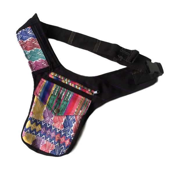 New! Guatemalan Festival Belt Bag - San Pedro Huipil - Fair Trade Gypsy