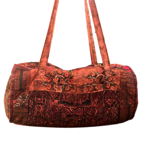 Guatemalan Duffel Bag - Nahuala Flowers - Fair Trade Gypsy