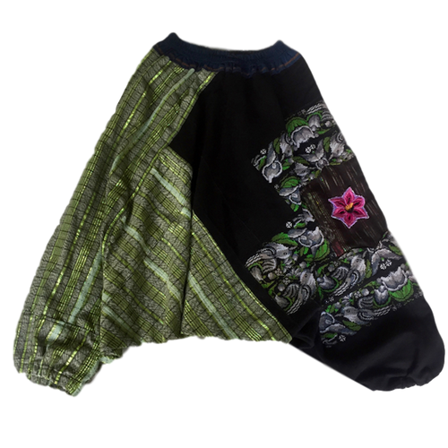 Guatemalan Harem Style Pants - Lake Green - Fair Trade Gypsy