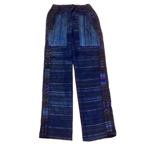 Guatemalan Corte Style Pants - Chichi Blue - Fair Trade Gypsy