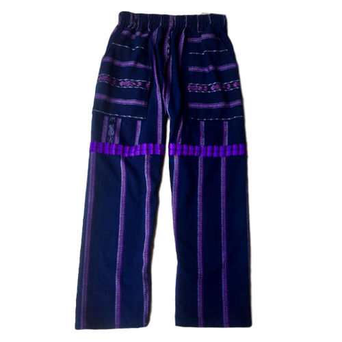 Guatemalan Corte Style Pants - Chichi Purple Stripe - Fair Trade Gypsy