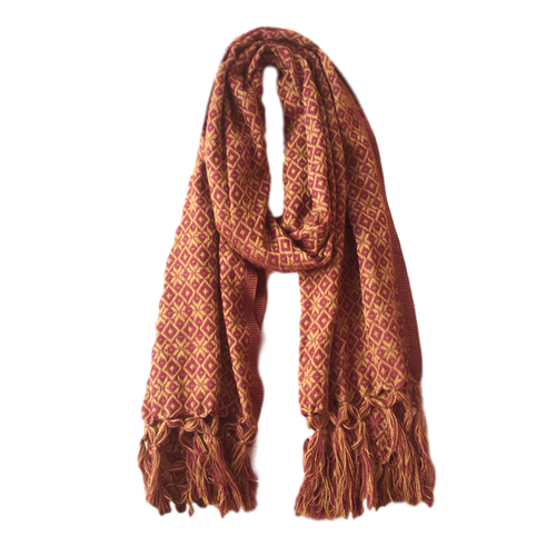 Mexican Rebozo - Vino & Gold - Fair Trade Gypsy